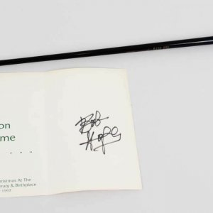Bob Hope Signed Promo Card W/ Special Edition Golf Putter - COA JSA