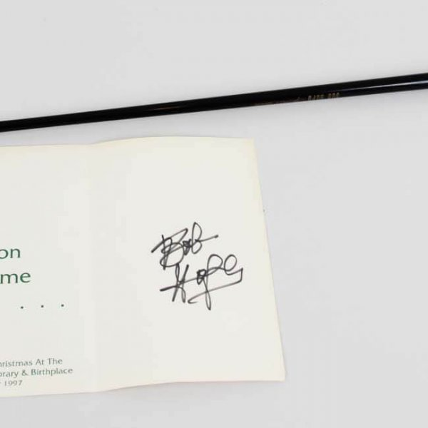 Bob Hope Signed Promo Card W/ Special Edition Golf Putter - COA JSA