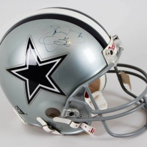 Emmitt Smith Dallas Cowboys Signed & Inscribed Full Size Authentic Helmet - JSA Full LOA