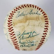 1972 Pittsburgh Pirates Team-Signed Baseball 24 Sigs. Incl. Roberto Clemente, Willie Stargell (No Clubhouse)
