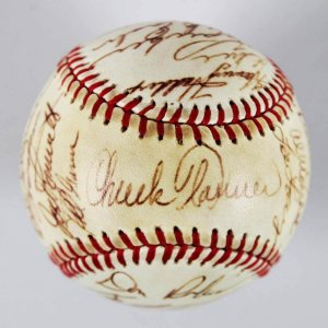 1980 Pittsburgh Pirates Team Signed ONL (Feeney)  Ball. Willie Stargell, Bill Madlock (no clubhouse)