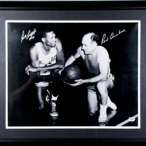 Bill Russell & Red Aurbach Signed 16x20 Celtics Photo Display - COA PSA/DNA