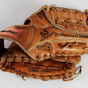 1986 Orel Hershiser Los Angeles Dodgers Game-Worn, Signed MacGregor Glove