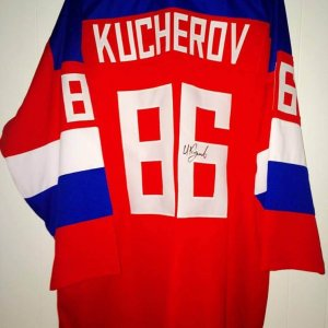 Team Russia Hockey Nikita Kucherov signed jersey