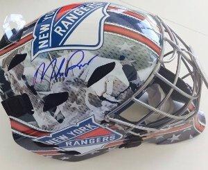 New York Rangers Mike Richter signed full size mask
