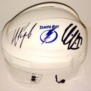 TB Lightning Nikita Kucherov an Victor Hedman signed mini helmet