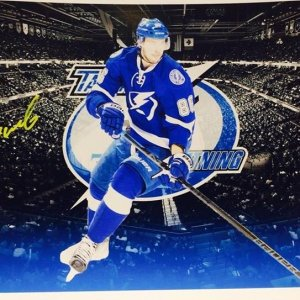 Tampa Bay Lightning Nikita Kucherov signed 11x14 photo