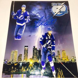 Tampa Bay Lightning Victor Hedman signed 11x14 photo