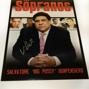 Vincent Pastore signed 11x14 Soprano exclusive photo