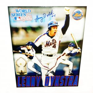 New York Mets Lenny Dykstra signed 11x14 photo