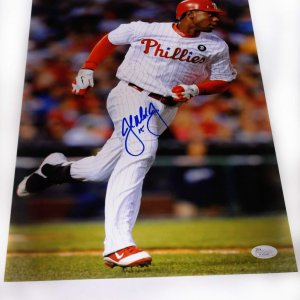 John Mayberry signed Phildelphia Phillies 11x14 MLB photo