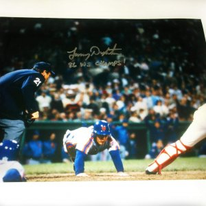 Lenny Dykstra signed New York Mets 11x14 photo inscribed