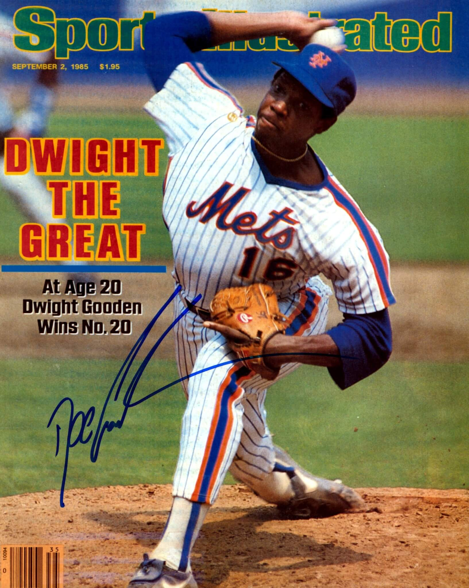 Doc Gooden Signed New York Mets Sports Illustrated 8x10 Photo