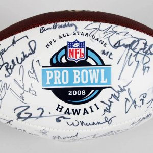 2008 AFC Team Signed Football - Manning, Roethlisberger, etc. - JSA