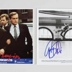 Mikhail Baryshnikov & Gregory Hines Signed 8x10 White Nights Movie Still Photos - COA JSA