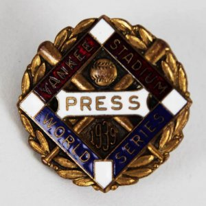 1939 New York Yankees World Series Dieges & Clust Press Pin