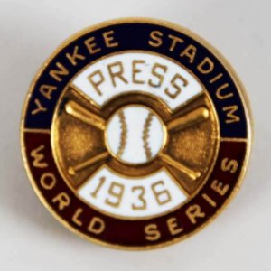 1936 World Series New York Yankees Dieges & Clust Press Pin