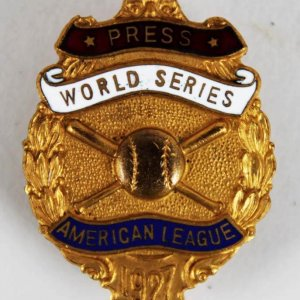 1927 Yankees World Series Dieges & Clust Press Pin