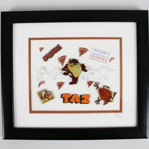 Tasmanian Devil 11 x 12.5 LE Animation Display - COA