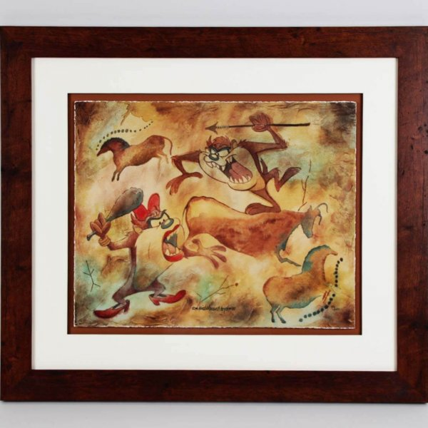 """David E. Byrd Signed """"Taz Cave Painting"""" 24.5 x 28 LE 136/250 Giclee Display - COA"""