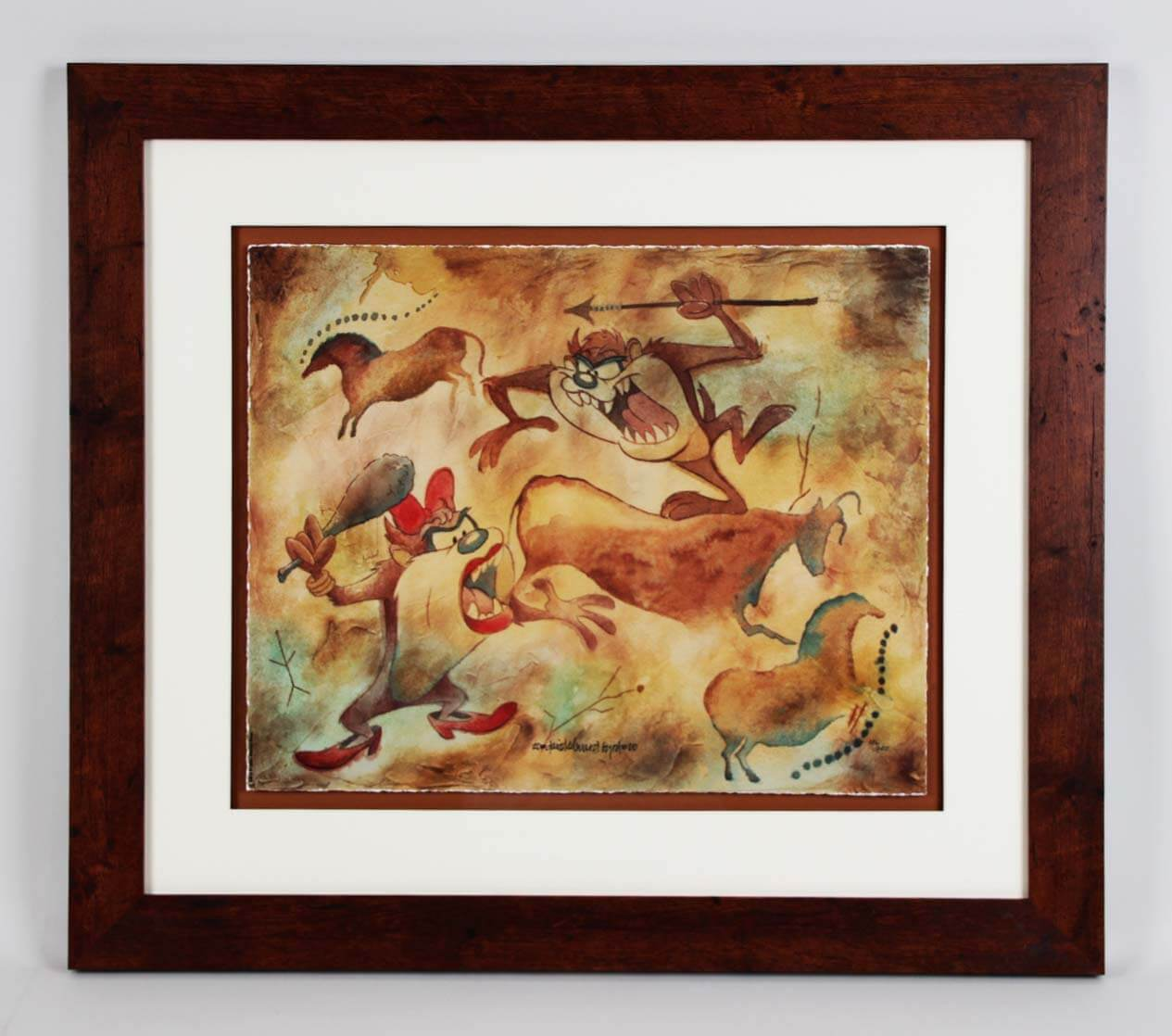 """David E. Byrd Signed """"Taz Cave Painting"""" Giclee Display - COA"""