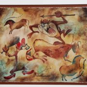 "David E. Byrd Signed ""Taz Cave Painting"" 24.5 x 28 LE 136/250 Giclee Display - COA"