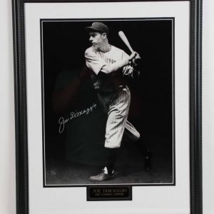 Joe DiMaggio Signed Yankees LE 4/56 Photo 22.5 x 28.5 Display
