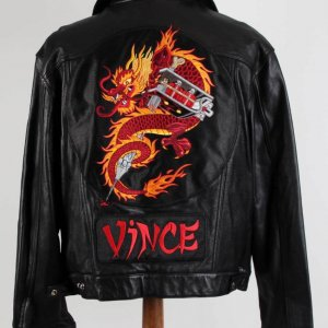 Vince Neil of Motley Crue's New Tattoo -Tour, Stage Worn Leather Jacket & Signed 8x10 Photo as Provenance JSA