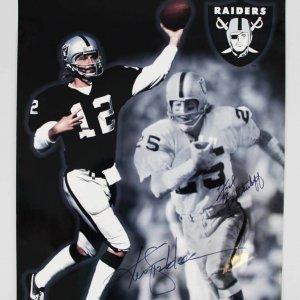 Raiders Signed Ken Stabler & Fred Biletnikoff 16x20 Color Photo - JSA