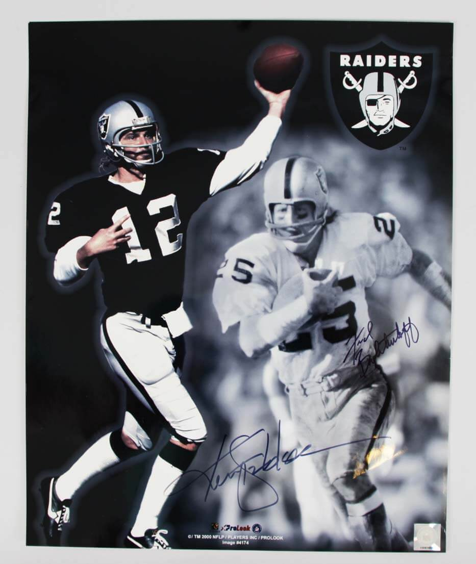 Raiders Signed Ken Stabler Amp Fred Biletnikoff 16 215 20 Color