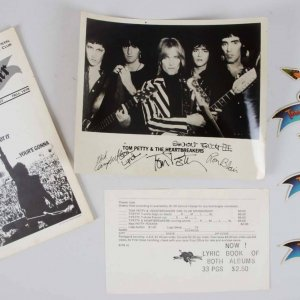 1976 Signed Tom Petty & The Heartbreakers 4 Original Band B&W Photo - JSA