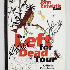 1996 Signed John Entwistle & by 3 Band Members Left for Dead Official Tourbook - JSA