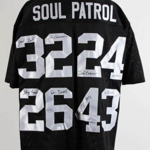 Oakland Raiders Signed Soul Patrol Jersey Jack Tatum, Willie Brown, Skip Thomas ,George Atkins - JSA