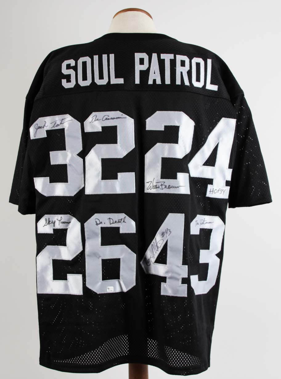 hot sale online 7a9d3 f7d2d Oakland Raiders Signed Soul Patrol Jersey Jack Tatum, Willie Brown, Skip  Thomas ,George Atkins - JSA