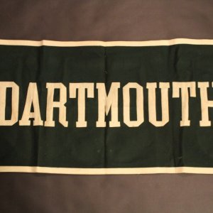 A 1949 Dartmouth College Vintage Ivy League Banner.