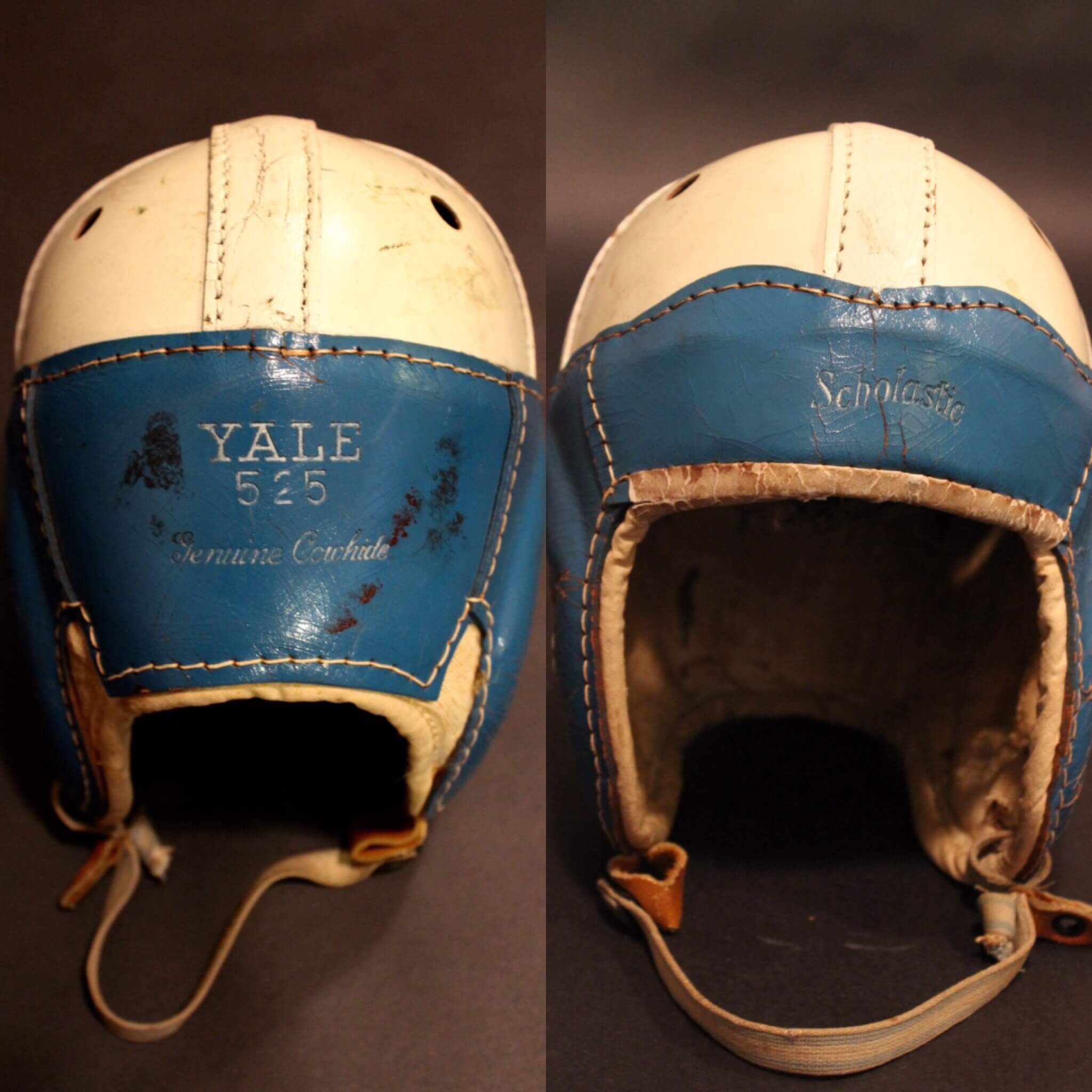 837c09511b2 A Yale University Game-Used Leather Football Helmet. Circa 1930 s.  Scholastic Manufactured.