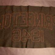A Princeton University Vintage Wool Banner (Circa 1946).