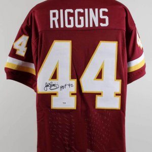 John Riggins Signed Redskins Jersey - COA PSA/DNA