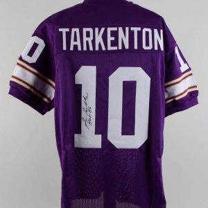 Fran Tarkenton Signed & Inscribed Vikings Jersey - COA JSA