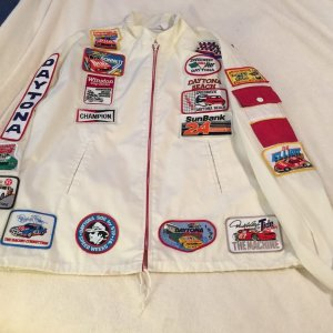 Daytona Inter Speedway stock car Racing Track Nascar Jacket w/ 21 patches 1984-1995