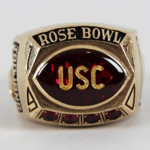 1970 USC Trojans Rose Bowl Ring 10K Gold Salesman Sample