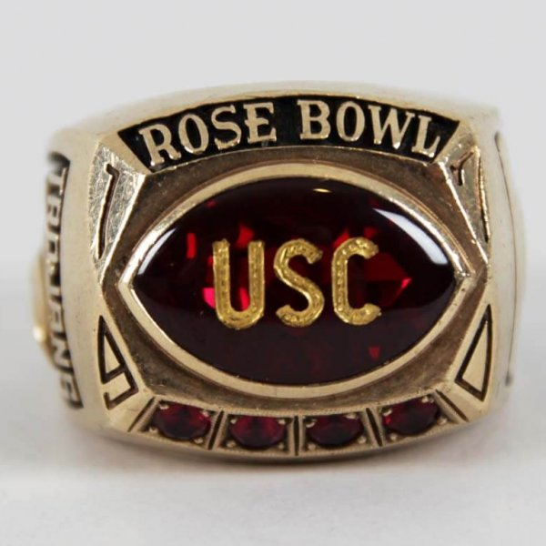 1970 USC Trojans Rose Bowl Ring 10K Gold Salesman Sample
