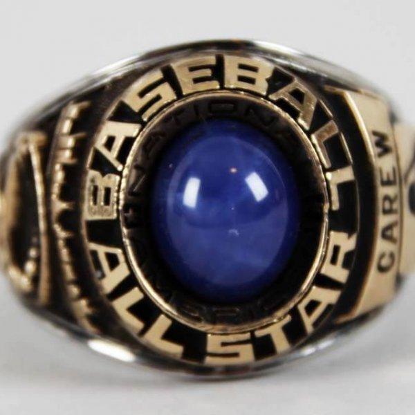 1977 Rod Carew Minnesota Twins MLB All-Star Ring - Salesman Sample