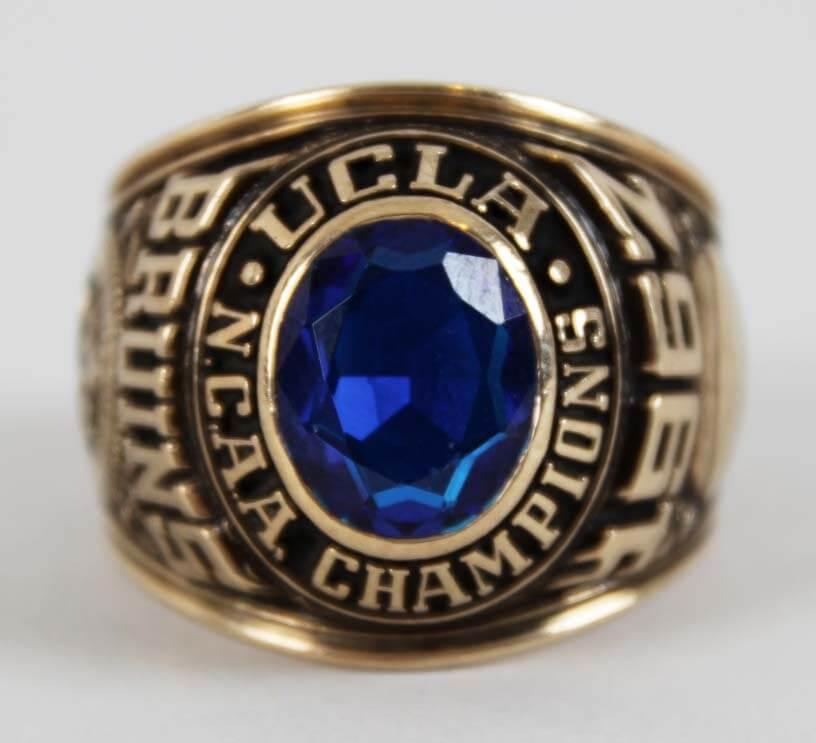 1967 UCLA` Championship Ring 10K Gold Balfour Salesman Sample