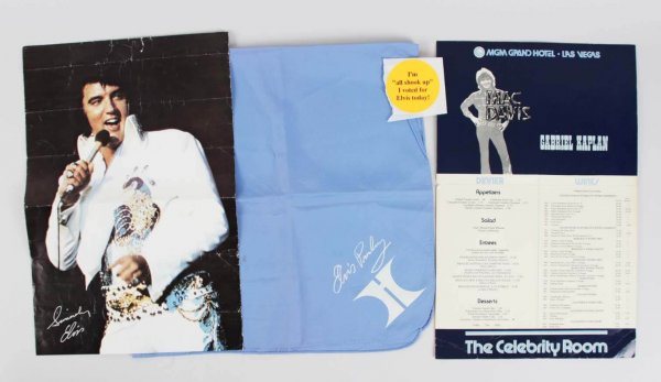Elvis Presley Worn Handkerchief Scarf - From Las Vegas Hilton Show (Entertainer - Singer)