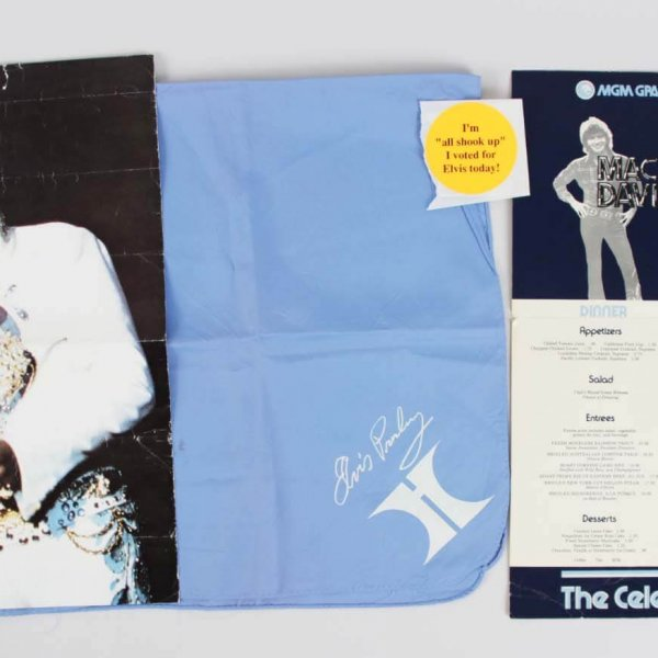 Elvis Presley Worn Handkerchief Scarf - From Las Vegas Hilton Show (Entertainer - Singer)