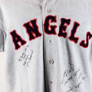 1965 Jose Cardenal Game-Worn Signed & Inscribed California Angels Flannel Jersey