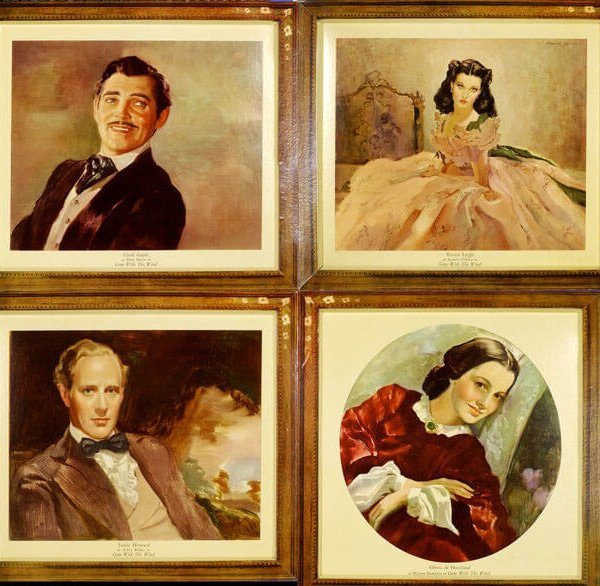 """Gone With the Wind (MGM, 1939) Oilette Set (4) (18"""" X 19"""")"""