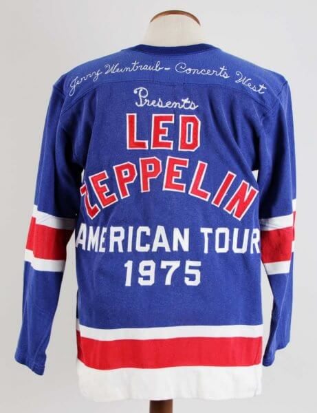 1975 Led Zeppelin American Concert Tour - Rare VIP Crew & Band (Only) Promo Hockey Jersey by Concerts West