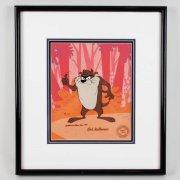 1989 Bob McKimson Signed Tasmanian Devil LE 391/500 17x19 Animation Display – COA